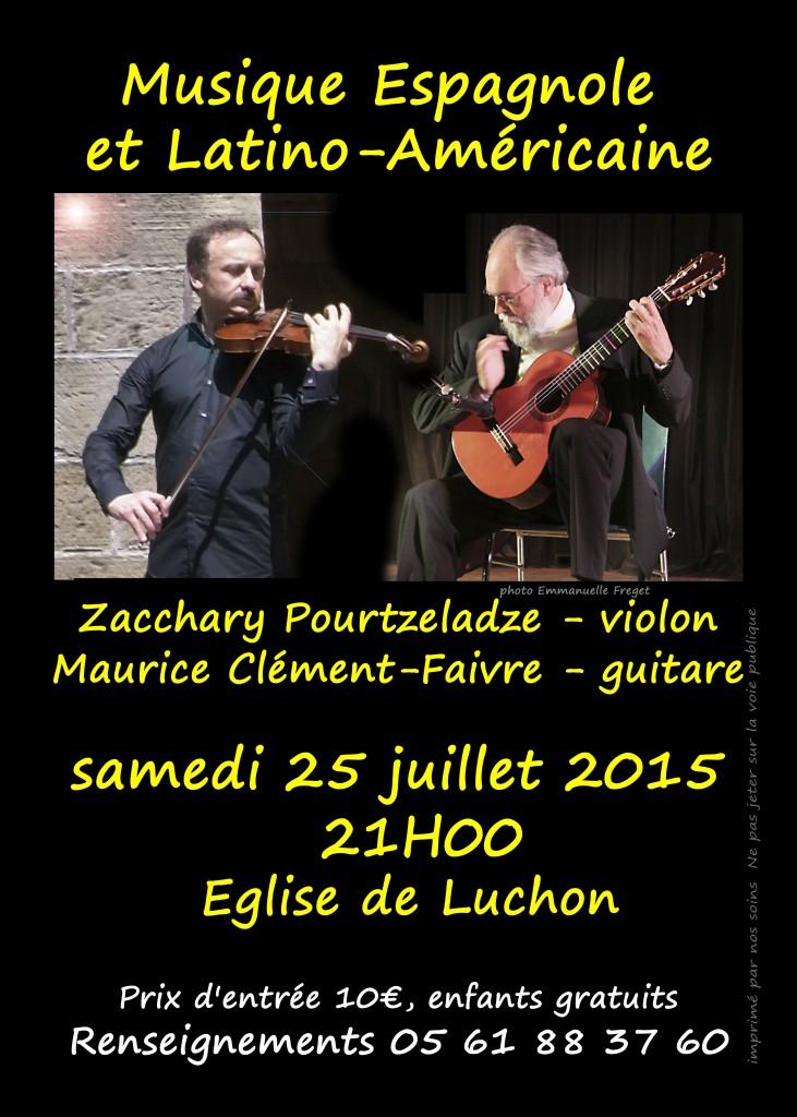 Maurice Clément-Faivre - Zaza Pourtzeladze en concert à Luchon