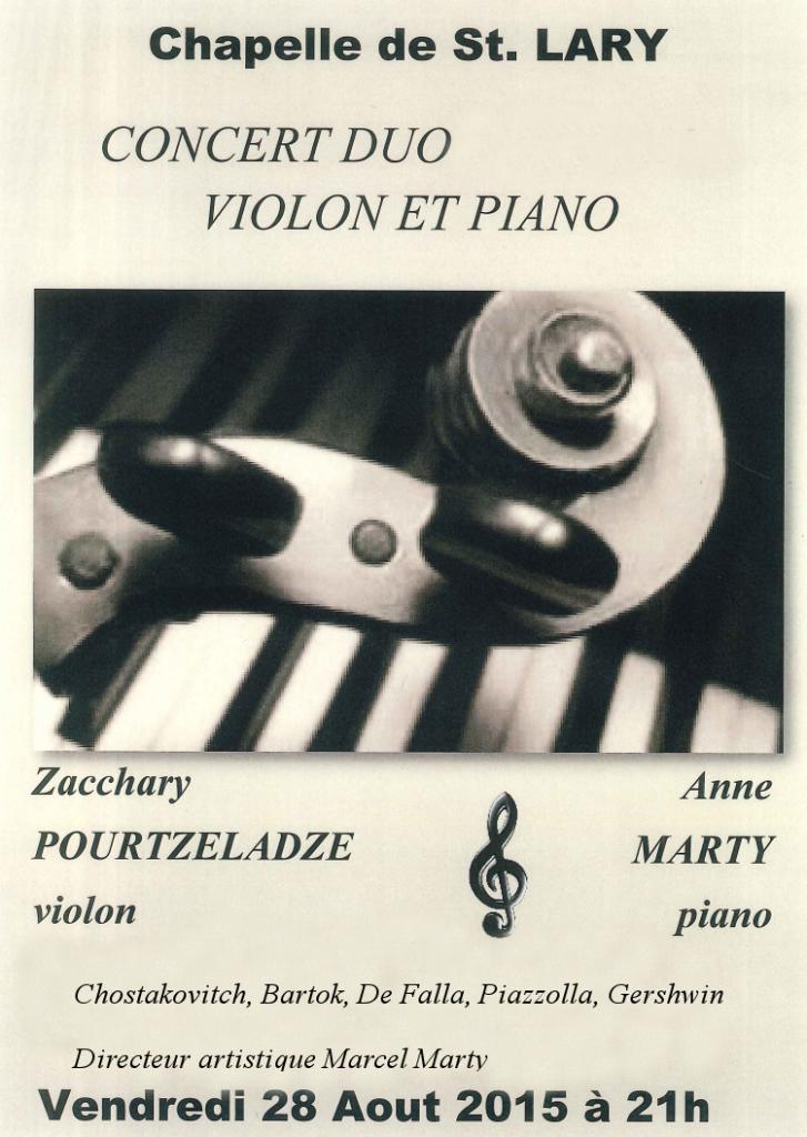 Zacchary Pourtzeladze et Anne Marty en concert à Saint-Lary Hautes-Pyrénées