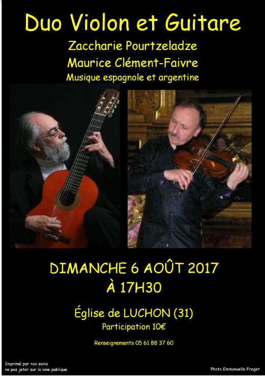 Maurice Clément Faivre et Zacchary Pourtzeladze à Bagnères-de-Luchon le 6 août