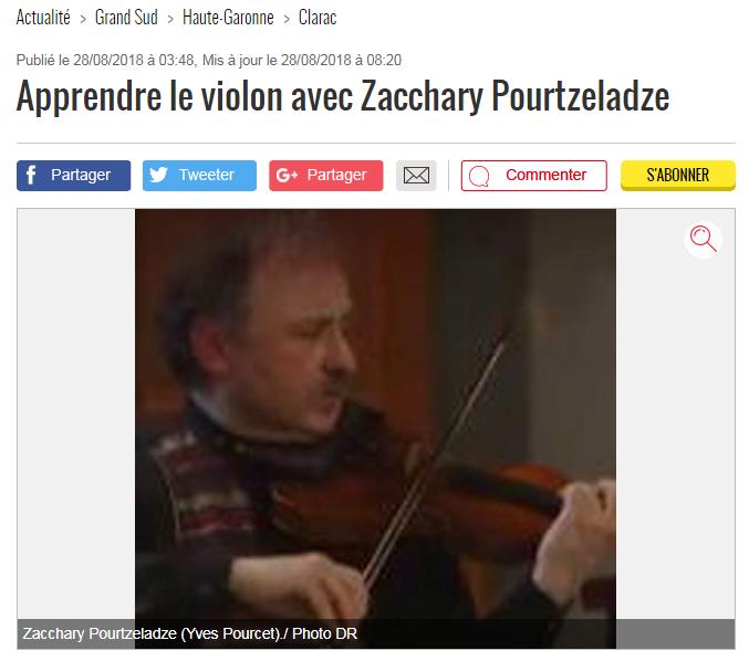 Zacchary Pourtzeladze violoniste